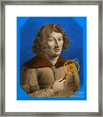 Nicolaus Copernicus, Polish Astronomer Framed Print by Omikron