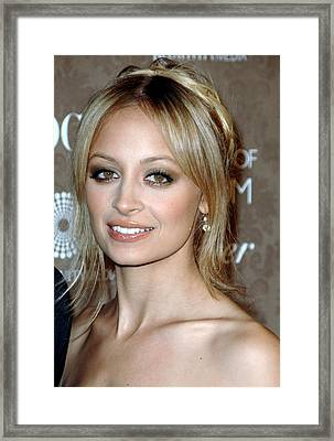 Nicole Richie At Arrivals For The Art Framed Print