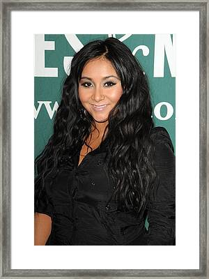 Nicole Snooki Polizzi At In-store Framed Print by Everett