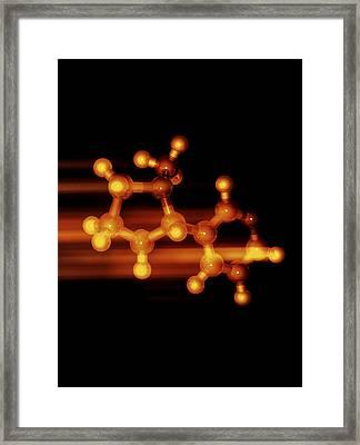 Nicotine Molecule Framed Print by Laguna Design
