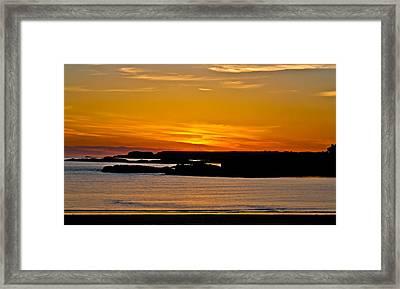 Night Glow Framed Print by Gary Finnigan