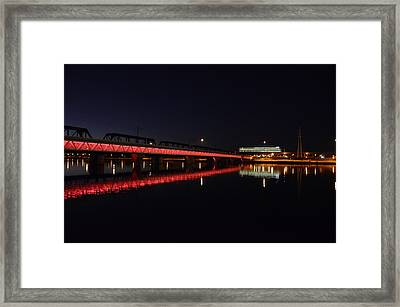 Night Lights Framed Print by Alberto Sanchez