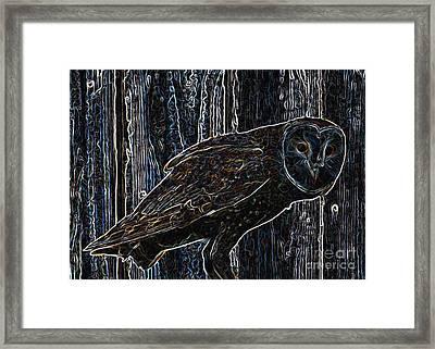 Night Owl - Digital Art Framed Print by Carol Groenen