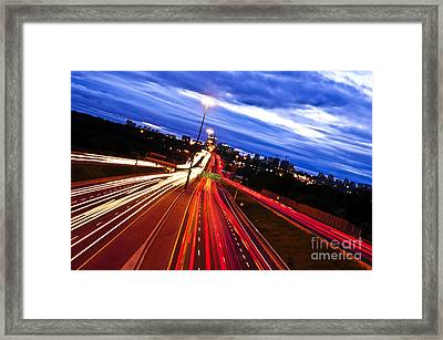 Night Traffic Framed Print