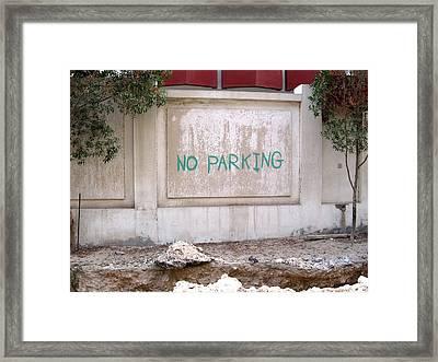 No Parking Framed Print by David Ritsema