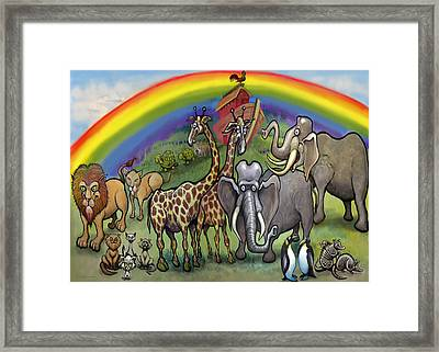 Noah's Ark Framed Print by Kevin Middleton