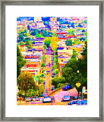 Noe Street In San Francisco 2 Framed Print by Wingsdomain Art and Photography