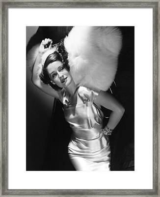 Norma Shearer Framed Print by Everett