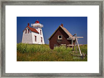 North Rustico Lighthouse Framed Print by Louise Heusinkveld