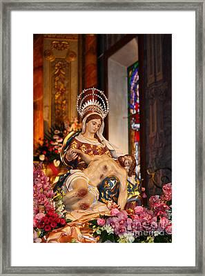 Nossa Senhora Da Piedade Framed Print by Gaspar Avila