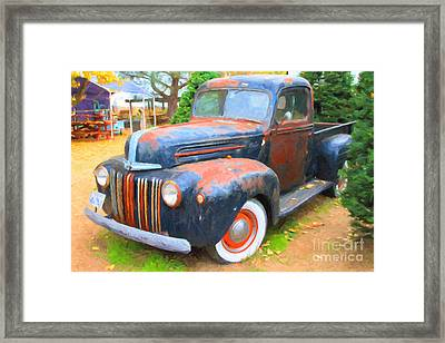 Nostalgic Rusty Old Truck . 7d10270 Framed Print by Wingsdomain Art and Photography