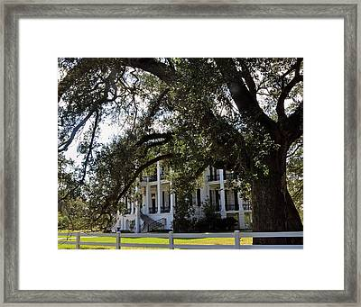 Framed Print featuring the photograph Nottaway Plantation by Helen Haw