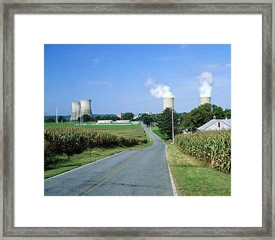 Nuclear Power Station Framed Print by Martin Bond