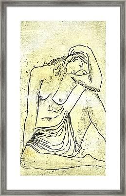 Nude II A.p. Framed Print by Karin Zukowski