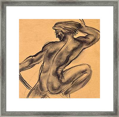 Nude Men Framed Print by Odon Czintos