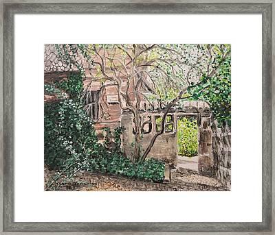 Nuremberg Castle Garden Framed Print by Sharon  De Vore