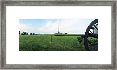 Ny Monument Antietam Framed Print by Jan W Faul