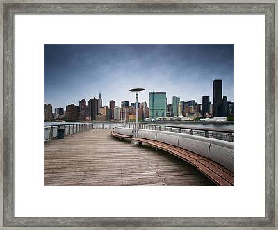 Nyc Brooklyn Quai Framed Print