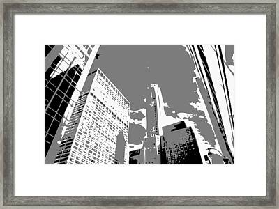 Nyc Looking Up Bw3 Framed Print by Scott Kelley