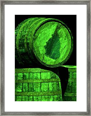 Oak Barrel Green Framed Print