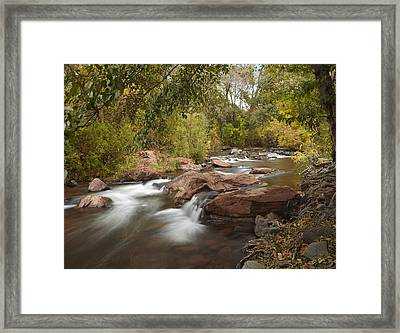 Oak Creek In Slide Rock State Park Framed Print