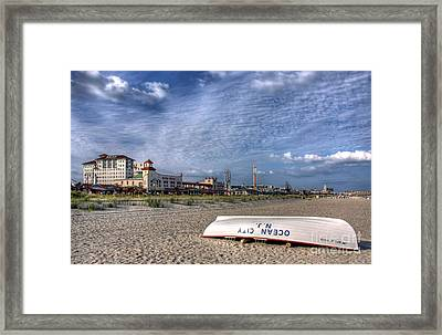 Ocean City Beach Framed Print
