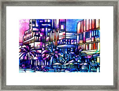 Ocean Drive Framed Print by Giuliano Cavallo