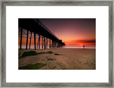 Oceanside Sunset 10 Framed Print