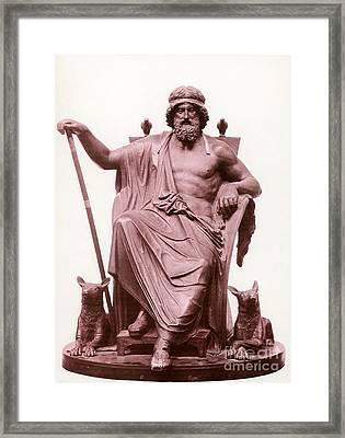 Odin, Norse God Framed Print by Photo Researchers
