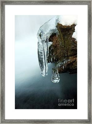 Of Ice And Water Framed Print by Darren Fisher