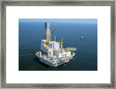 Off-shore Oil Rig Framed Print by Ria Novosti