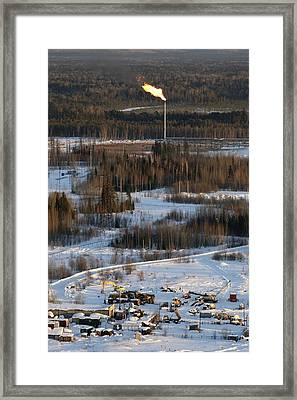 Oil Field Framed Print by Ria Novosti