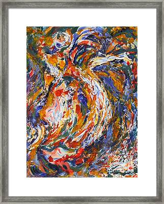 Oiseau Ebouriffe Framed Print by Claire Gagnon