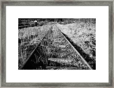 Old Abandoned Great Southern And Western Railway Line In County Sligo Republic Of Ireland Framed Print by Joe Fox
