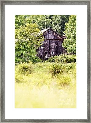 Old Barn Framed Print by HD Connelly