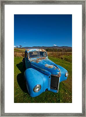 Old Blue Framed Print by Mike Horvath