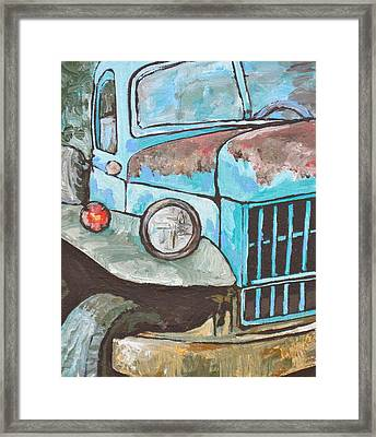 Old Blue Framed Print by Sandy Tracey
