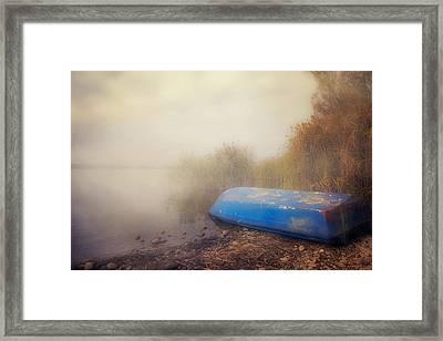 Old Boat In Morning Mist Framed Print