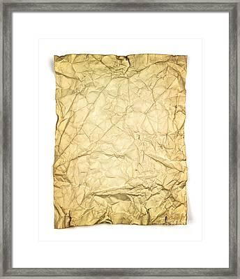Old Brown Paper Framed Print by Blink Images