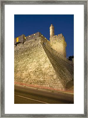 Old City, Tower Of David Museum Framed Print by Richard Nowitz