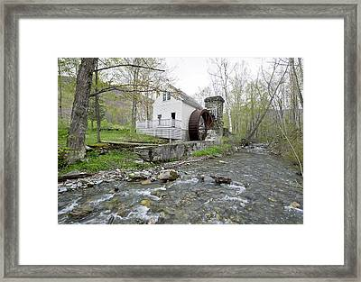 Old Dorset Grist Mill And Stream Framed Print by Gordon Ripley