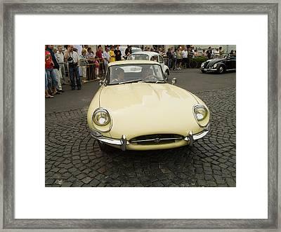 Old Jaguar Car Framed Print by Odon Czintos