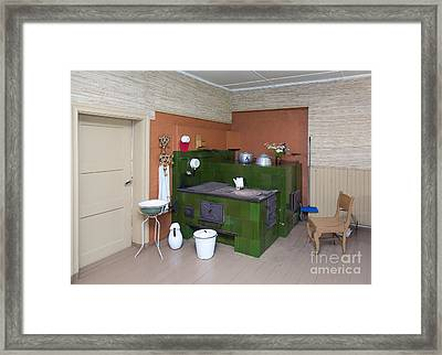 Old Lifestyle Museum Exhibit Framed Print