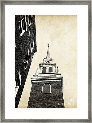 Old North Church In Boston Framed Print by Elena Elisseeva