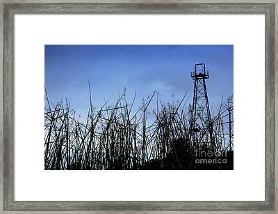 Old Oil Tower Framed Print by Antoni Halim