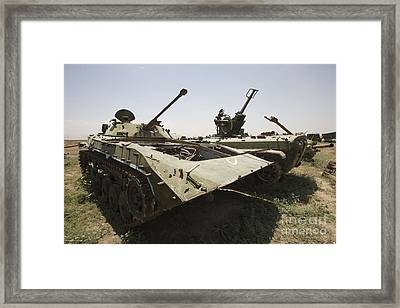 Old Russian Bmp-1 Infantry Fighting Framed Print by Terry Moore