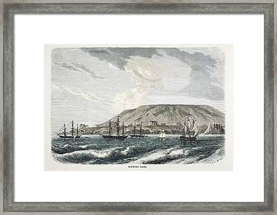 Old Sail Ships Galapagos Island Isabela Framed Print by Paul D Stewart
