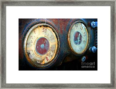 Old Speed Framed Print