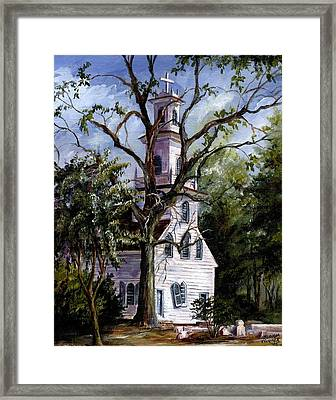 Framed Print featuring the painting Old St. David's Church by Gloria Turner