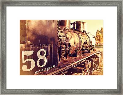 Old Steam Locomotive Engine 1258 . 7d10467 Framed Print by Wingsdomain Art and Photography